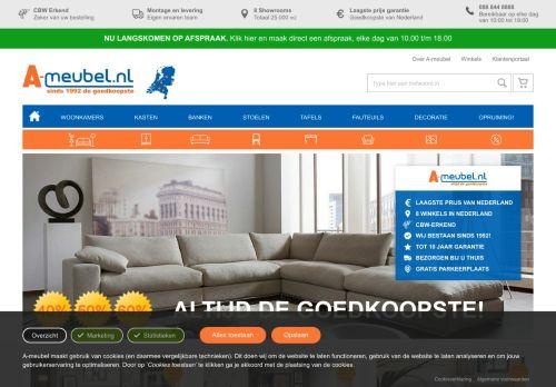 Screenshot van a-meubel.nl