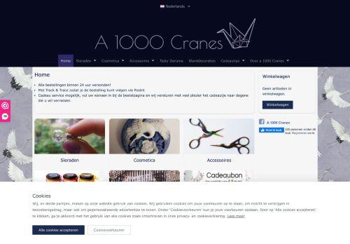 Screenshot van a1000cranes.nl