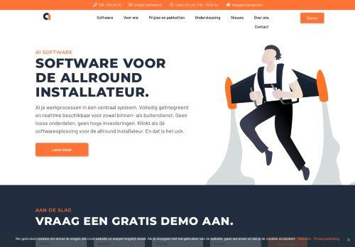 Screenshot van a1software.nl