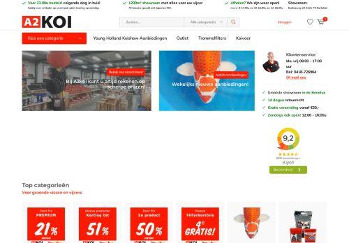 Screenshot van a2koi.nl