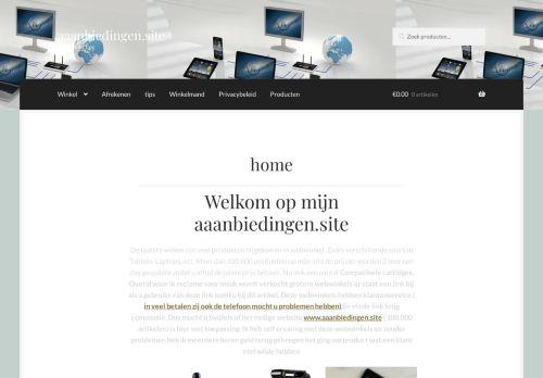 Screenshot van aaanbiedingen.site