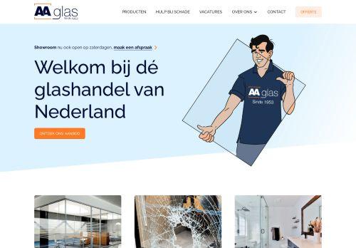 Screenshot van aaglas.nl
