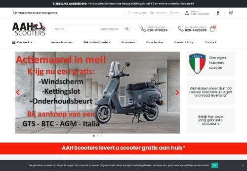 Screenshot van aahscooters.nl