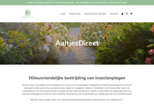 Screenshot van aaltjesdirect.nl