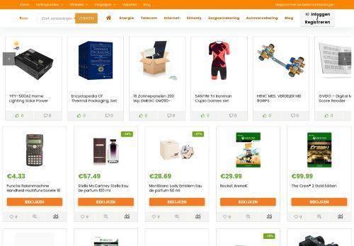 Screenshot van aanbiedingen.com