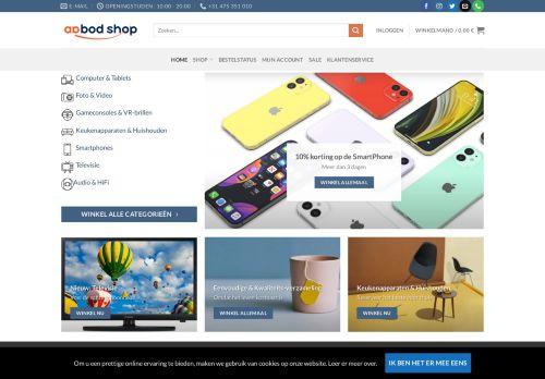 Screenshot van aanbod-shop.com