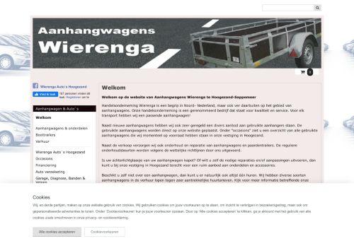 Screenshot van aanhangwagenswierenga.nl