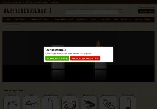Screenshot van aanstekerdeluxe.nl