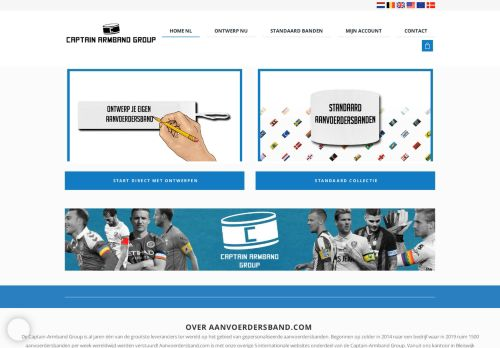 Screenshot van aanvoerdersband.com