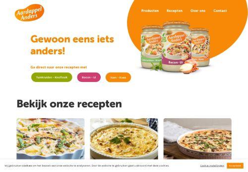 Screenshot van aardappelanders.nl