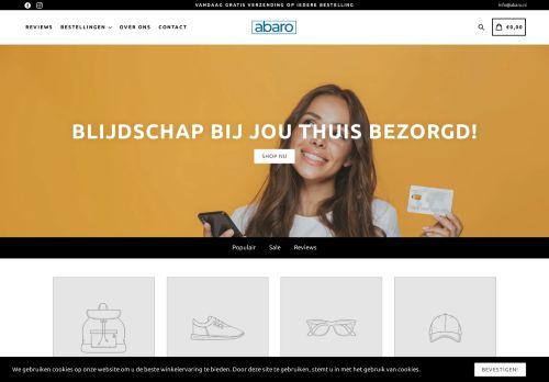 Screenshot van abaro.nl