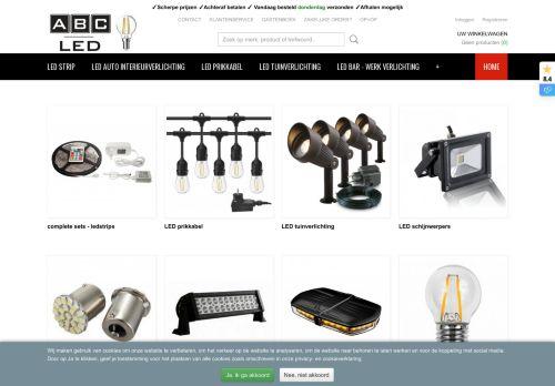 Screenshot van abc-led.nl