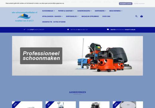 Screenshot van abc-schoonmaakartikelen.nl