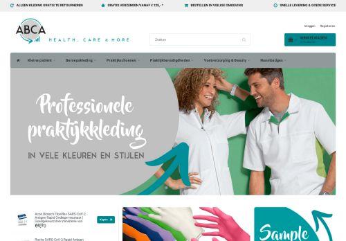 Screenshot van abca.nl
