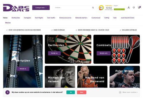 Screenshot van abcdarts.nl