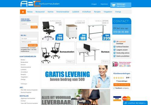 Screenshot van abckantoormeubelen.nl