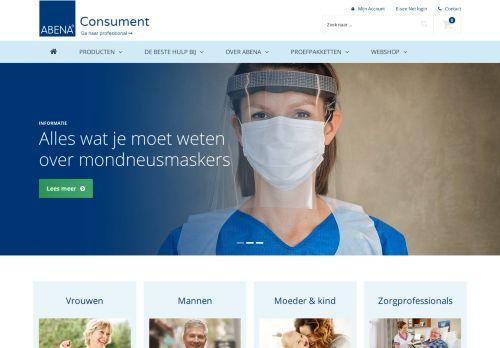 Screenshot van abena.nl