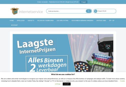 Screenshot van abinternetservice.nl