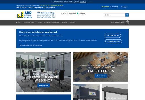 Screenshot van abrkantoorinrichting.nl