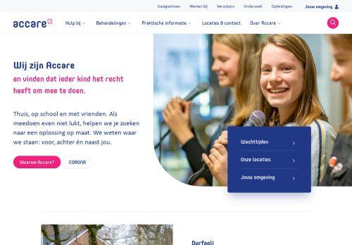 Screenshot van accare.nl