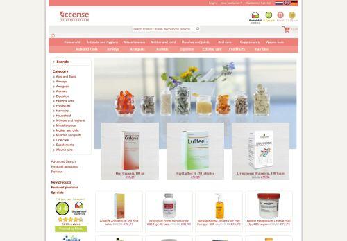 Screenshot van accense.nl