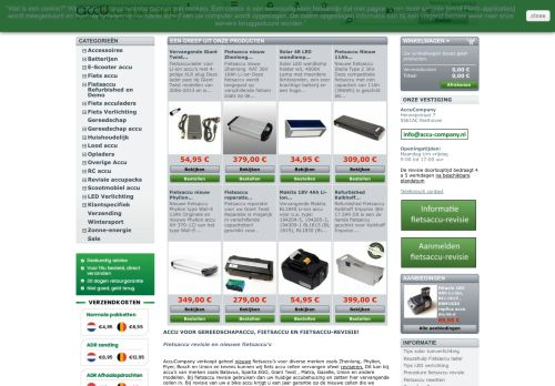 Screenshot van accu-company.nl