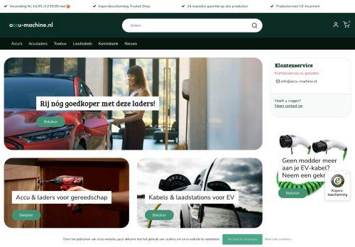 Screenshot van accu-machine.nl