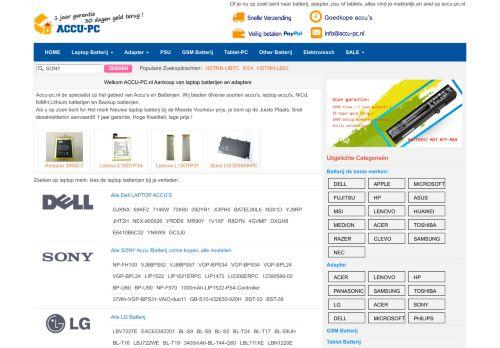 Screenshot van accu-pc.nl