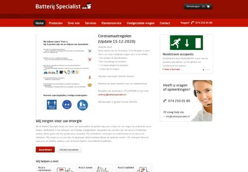 Screenshot van accu-winkel.nl