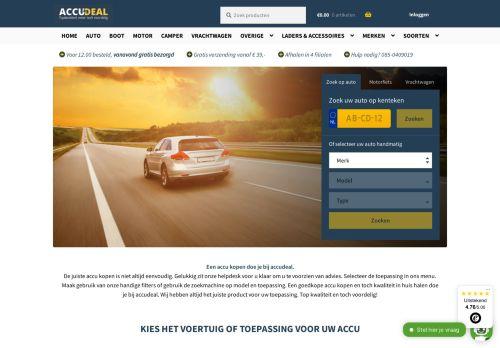Screenshot van accudeal.nl