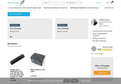 Screenshot van accudrunen.com