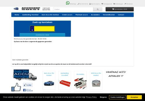 Screenshot van accushop-soest.nl