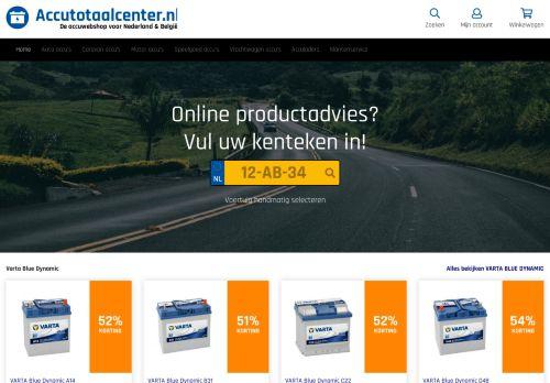 Screenshot van accutotaalcenter.nl