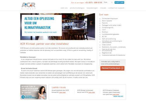 Screenshot van acr.nl