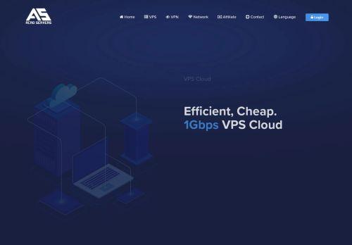 Screenshot van acroservers.com