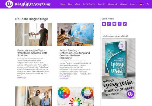 Screenshot van acrylgiessen.com