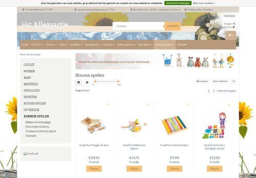 Screenshot van actiefspeelgoed.nl