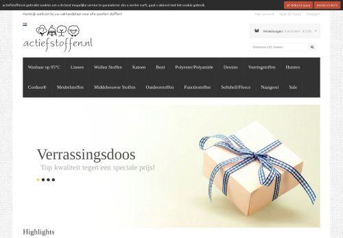 Screenshot van actiefstoffen.nl