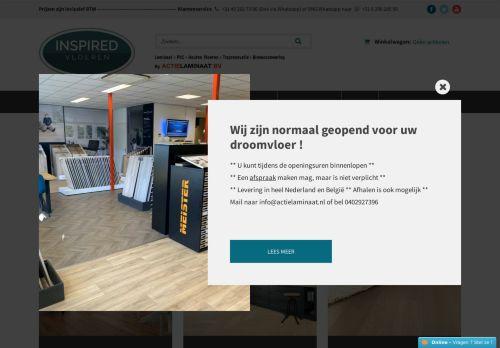Screenshot van actielaminaat.nl