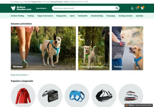 Screenshot van actievehonden.com
