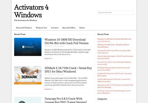 Screenshot van activators4windows.com