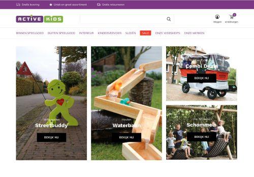 Screenshot van active-kids.nl
