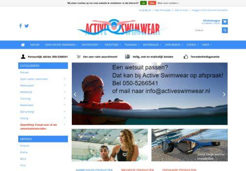 Screenshot van activeswimwear.nl
