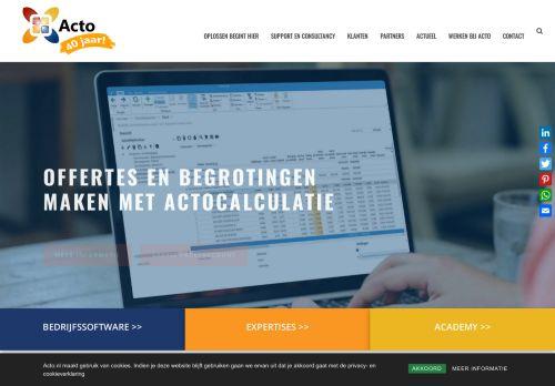 Screenshot van acto.nl