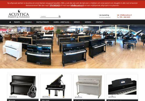 Screenshot van acustica.nl