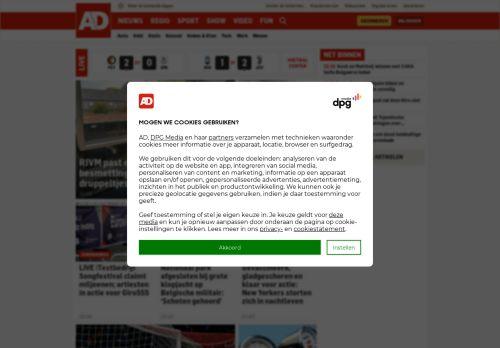 Screenshot van ad.nl