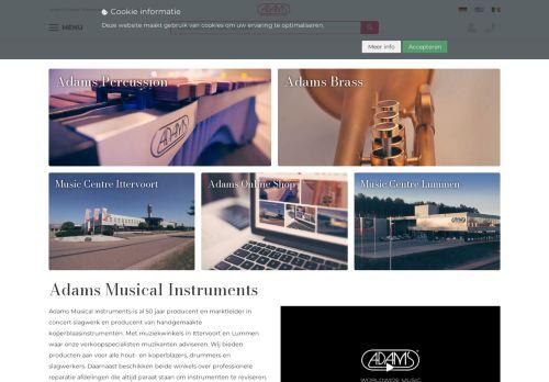 Screenshot van adams-music.com