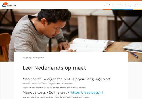 Screenshot van adappel.nl
