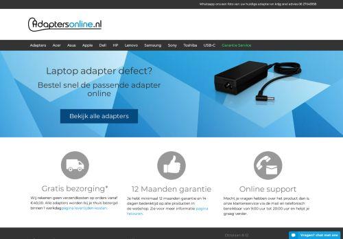 Screenshot van adaptersonline.nl