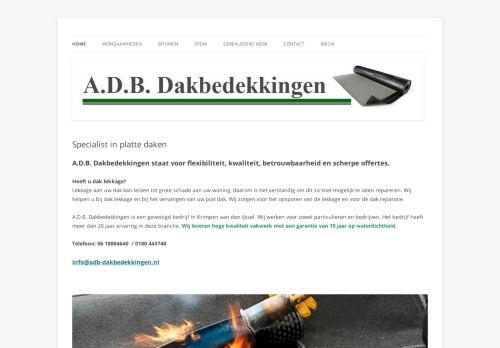 Screenshot van adb-dakbedekkingen.nl